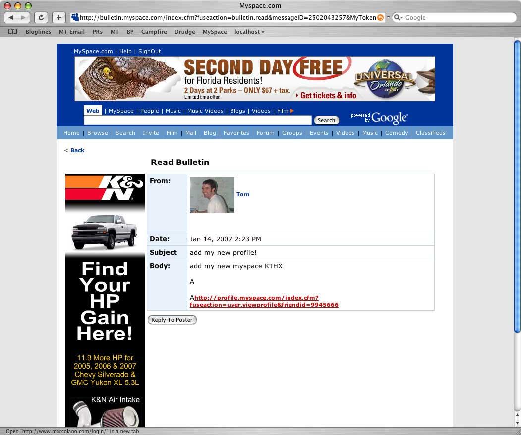 MySpace Harvard Case Solution & Analysis