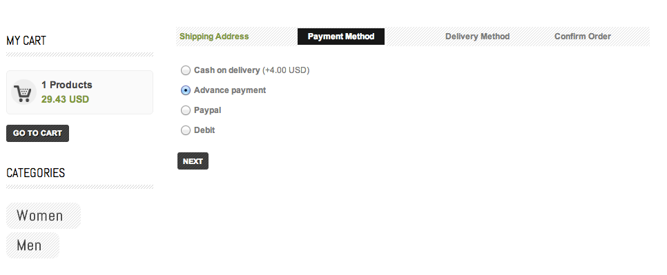 Clepter payment methods