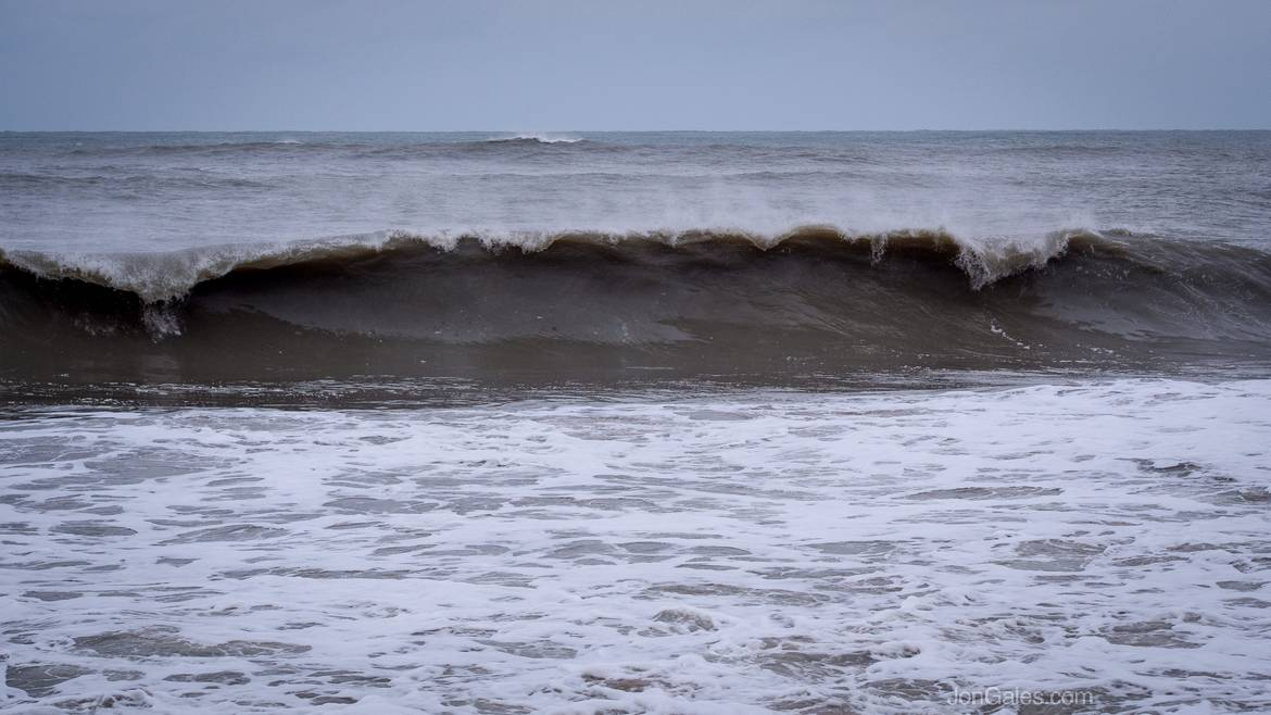 Dirty waves from Hurricane Sandy